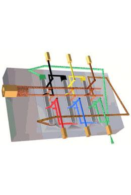由于递进式分配器上装设有接近式开关可以对分配器的