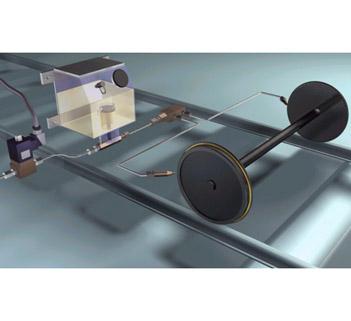 轮缘油气润滑系统